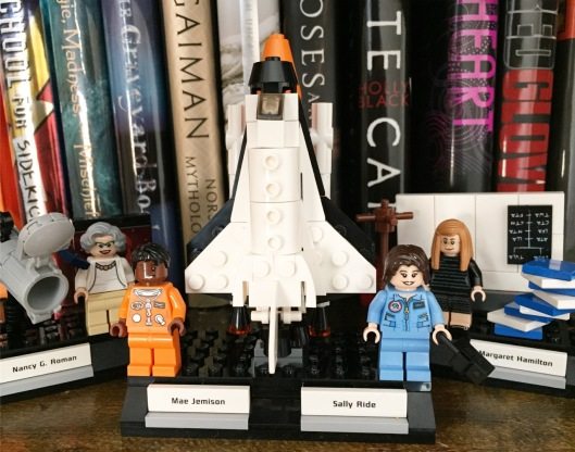 lego figures and books