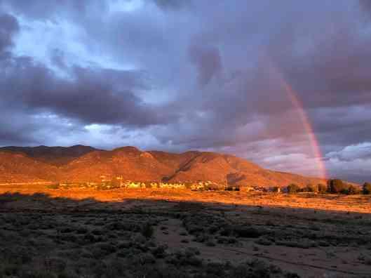 rainbow above mountain